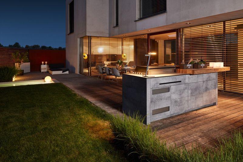 Grillküchen Outdoor Kitchen Holz Ziller