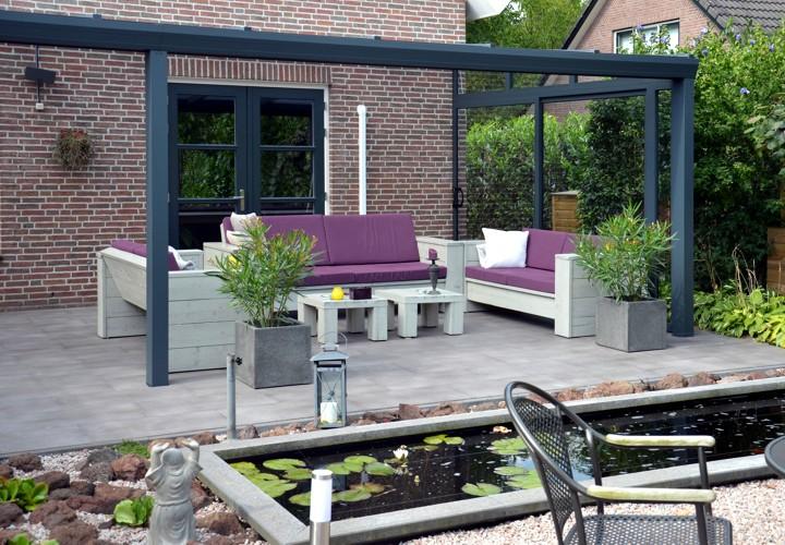 terrassen berdachung terrassendach a glas od. Black Bedroom Furniture Sets. Home Design Ideas