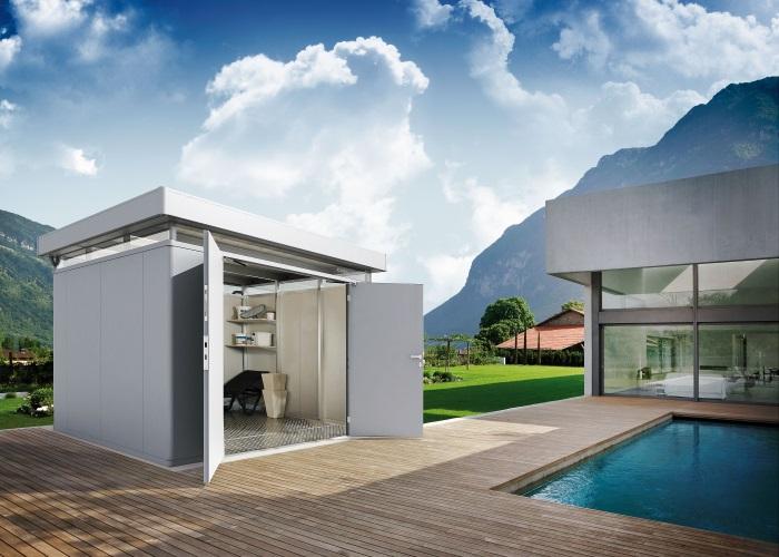 gartenhaus modernes design holz ziller. Black Bedroom Furniture Sets. Home Design Ideas