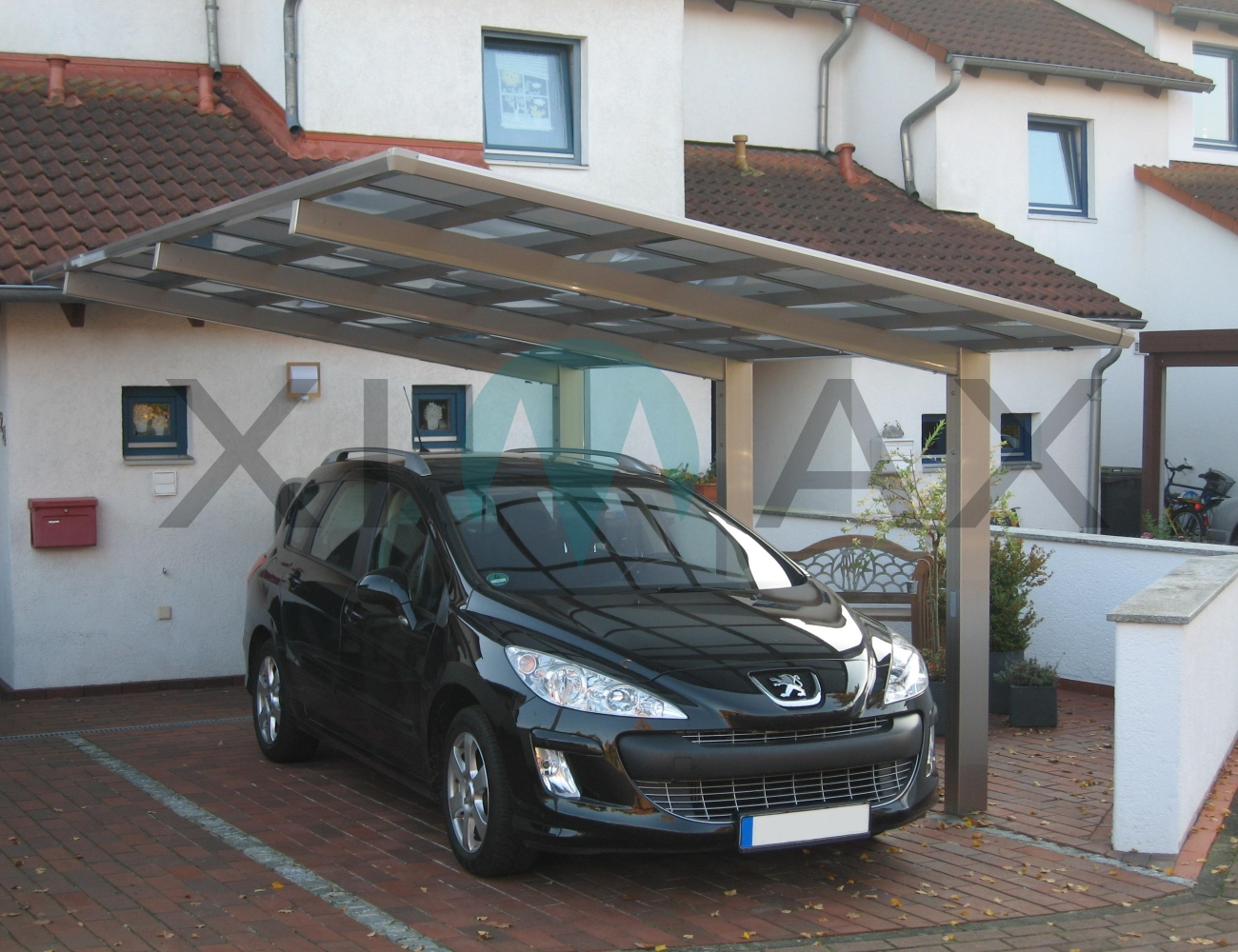 carports doppelcarport aus metall holz ziller. Black Bedroom Furniture Sets. Home Design Ideas