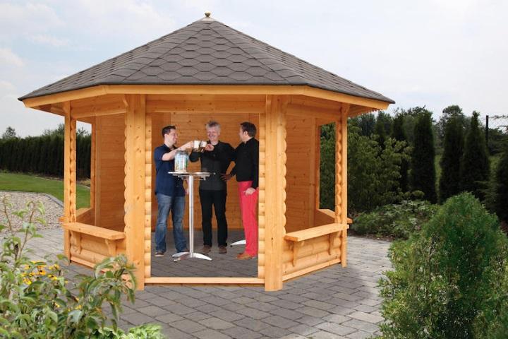 Pavillons aus holz holz pavillons kaufen holz ziller - Holzpavillon garten ...