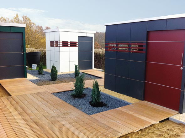 Gartenhaus im modernen design holz ziller for Design gartenhauser