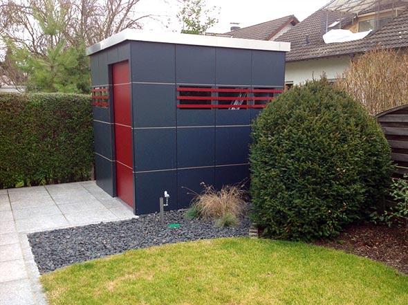 best gartenhaus modern metall ideas. Black Bedroom Furniture Sets. Home Design Ideas