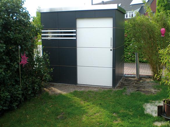 gartenhaus im modernen design holz ziller. Black Bedroom Furniture Sets. Home Design Ideas